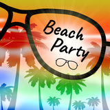 Beach Party Represents Go On Leave And Beaches stock illustration