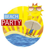 Beach party Stock Image