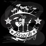 Beach Party, Summer calligraphic designs Stock Photos