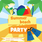 Beach party Royalty Free Stock Photos