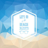 Beach party summer vintage polygonal abstract Stock Image