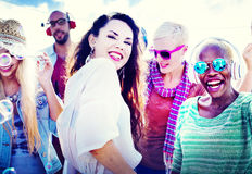 Beach Party Togetherness Friendship Happiness Summer Concept Stock Photography