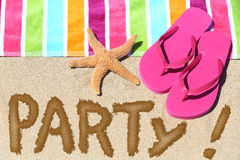 Beach party travel fun concept Royalty Free Stock Photo