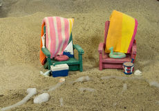 Beach party for two.            Assignment Royalty Free Stock Image