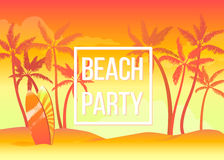 Beach party stock illustration