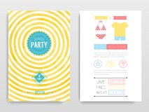 Beach party. Vector illustration. Watercolor flyer Beach party. Vector illustration Royalty Free Stock Photo