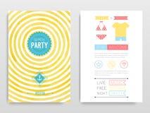 Beach party. Vector illustration. Watercolor flyer Beach party. Vector illustration royalty free illustration