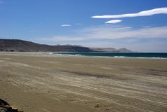 Beach in Patagonia Stock Image