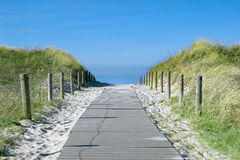 Beach path Stock Image