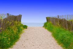Beach Path 2. Image of sandy path leading to beach Royalty Free Stock Image