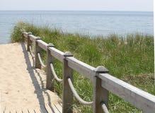 Beach Path 3. Path through the sand dunes to the beach stock photo