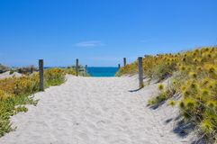 Beach Path to the Indian Ocean stock photos