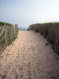 Beach pathway royalty free stock photography