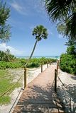 Beach Pathway. A photo of a boardwalk winding to the beach.  Photo taken on Sanibel / Captiva Island Stock Image