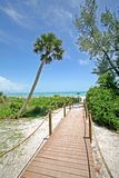 Beach Pathway. A photo of a boardwalk  to the beach.  Photo taken on Sanibel / Captiva Island Royalty Free Stock Photo