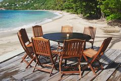 Beach Patio Stock Image