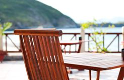 Beach patio Stock Images