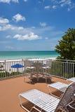 Beach Patio Stock Photo