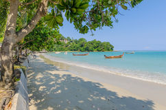 Beach of Patong in Phuket, Thailand. Early Morning on the beach of Patong in Phuket, Thailand Stock Image