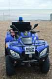 Beach patrol emergency vehicle. Stock Photo