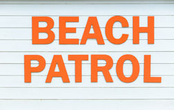 Beach patrol sign Royalty Free Stock Image