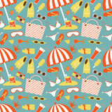 Beach pattern Stock Photography