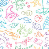 Beach pattern Royalty Free Stock Images