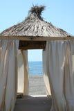 Beach pavilion Stock Images