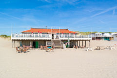 Beach pavilion in Netherlands Stock Images