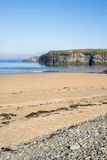 Beach and pebbled sand at ballybunion Stock Images