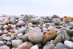 Beach pebbles Stock Image