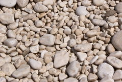 Beach pebbles background Stock Photo