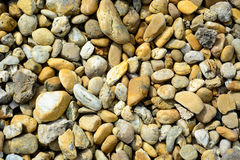 Beach pebbles for background Stock Photo