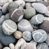 Beach pebbles close up Stock Photos