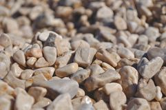 Beach pebbles background Royalty Free Stock Photos