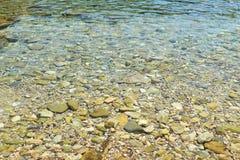 Beach pebbles Ithaca island Greece Stock Photography