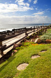 Beach pedestrian road. In north coast of Durban, South Africa Royalty Free Stock Photos