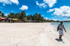 On the beach at Pemba, in Mozambique in east Africa. Royalty Free Stock Photos