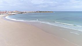 Beach Peniche Slowmotion Aerial 4k stock footage