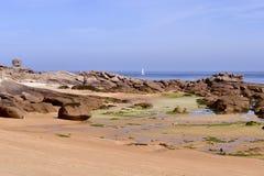 Beach peninsula Renote in France Stock Image