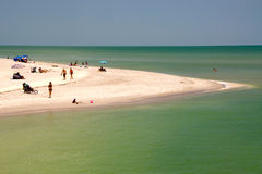 Beach peninsula on sanibel Island Stock Photos