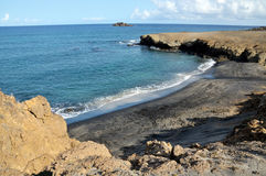 Beach between Peninsulas Stock Image