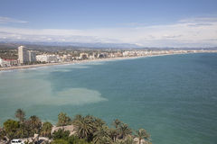 Beach Peniscola, Castellon, Spain Stock Image