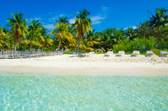 Beach at Penisula Yucatan in Mexico Royalty Free Stock Photography