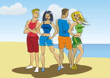 Beach people Royalty Free Stock Photo