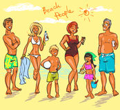 Beach People Royalty Free Stock Images