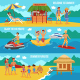 Beach people set royalty free illustration