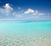 Beach perfect white sand turquoise water Royalty Free Stock Images