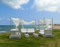 Beach pergola Stock Images