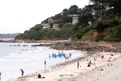 Beach of Perros Guirec Royalty Free Stock Photography